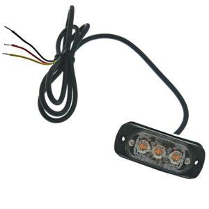 pazari4all-Φανάρι led πορτοκαλί με διαφορετικές λειτουργίες LED 12-24V 3 SMD - OEM