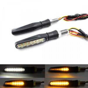 pazari4all.gr-Φλάς μηχανής 15 SMD LED και φώτα ημέρας 2 σε 1 universal σετ 2 τεμ OEM