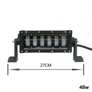 pazari4all.gr-LED αδιάβροχος προβολέας HI/LOW 48W 12V/24V 6000K 3840LM 6SMD μπάρα για βάρκες τρακτέρ φορτηγά αυτοκίνητα OEM