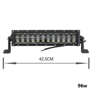 pazari4all.gr-LED αδιάβροχος προβολέας HI/LOW 96W 12V/24V 6000K 7680LM 12SMD μπάρα για βάρκες τρακτέρ φορτηγά αυτοκίνητα OEM