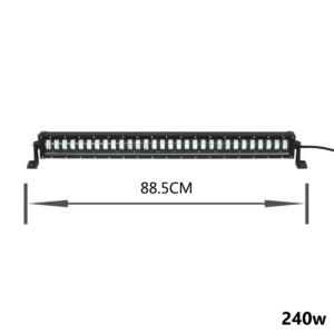 pazari4all.gr-LED αδιάβροχος προβολέας HI/LOW 240W 12V/24V 6000K 19200LM 30SMD μπάρα για βάρκες τρακτέρ φορτηγά αυτοκίνητα OEM