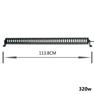 pazari4all.gr-LED αδιάβροχος προβολέας HI/LOW 320W 12V/24V 6000K 25600LM 40SMD μπάρα για βάρκες τρακτέρ φορτηγά αυτοκίνητα OEM