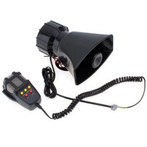 pazari4all.gr-Κόρνα αυτοκινήτου 50W/300dB με 5 ήχους και μικρόφωνο