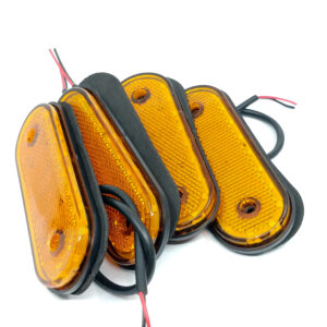 pazari4all.gr- Τετράδα 2Χ3W 24 V Αδιάβροχα Πλαϊνά LED Φορτηγών Ρυμουλκών πορτοκαλί