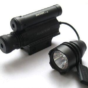Pazari4all.gr-Σκόπευτρο Με Διπλό Laser Green & Red Και Φακό – 3 in 1 Laser Sight Scope