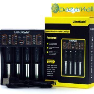 pazari4all.gr LiitoKala Lii - Φορτιστής μπαταρίας 402 - Μαύρος USB