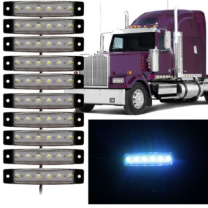 pazari4all.gr LED Φώτα Όγκου Φορτηγών IP66 Λευκό 24v 10 τεμάχια