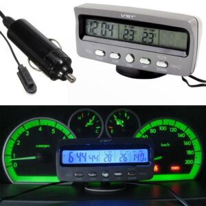 pazari4all.gr-Μετρητής κατάστασης αυτοκινήτου με ψηφιακό βολτόμετρο και ενδείξεις ώρας/θερμοκρασίας - VST-7045V OEM