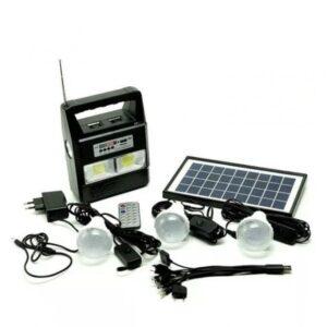 pazari4all.gr-Ηλιακό Πακέτο Φωτισμού με Πάνελ, Φορτιστή και 3 λάμπες GD-8216 – OEM