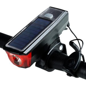 pazari4all.gr-LED Φώτα Ποδηλάτου Μπροστινό φως ποδηλάτου με Ηλιακή Ενέργεια