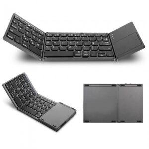 pazari4all.gr-Πληκτρολόγιο Mini Bluetooth Magnetic Foldable με Touchpad All-in-One για Smartphone, Tablet