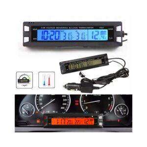 Βολτόμετρο-Θερμόμετρο και Ρολοϊ 12V-24V