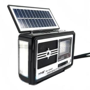 pazari4all.gr-Ηλιακό Επαναφορτιζόμενο Bluetooth Ηχείο - Ραδιόφωνο USB/SD Player FM/AM/SW1-6 με Φακό / Φωτιστικό LED
