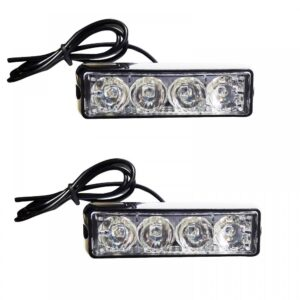 pazari4all.gr-Φώτα LED Strob Αστυνομίας-Ασφαλείας πορτοκαλί DC12/24V 4 LED Αδιάβροχο