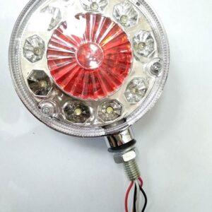 pazari4all.gr-Ζευγάρι σκουλαρίκια LED Φορτηγού 12cm 12-24v λευκό με κόκκινο