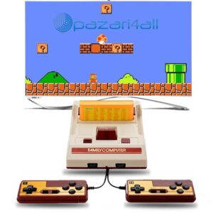 pazari4all.gr-ΚΡετρό Παιχνιδομηχανή με 632 Παιχνίδια με 2 Τηλεχειριστήρια - Συνδέεται με TV - Κονσόλα Entertainment System FC Naruto Famicom Games