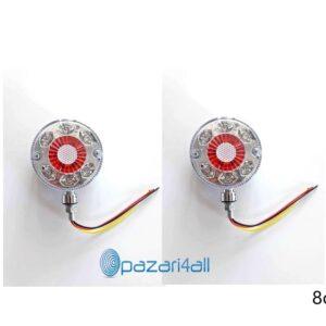 pazari4all.gr-Σκουλαρίκια LED Φορτηγού 12-24v λευκό με κόκκινο