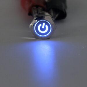 pazari4all.gr-Μπουτόν On/off 19mm με led Μπλέ φωτισμό πέντε επαφών