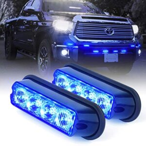 pazari4all.gr-Φώτα LED Strob Αστυνομίας-Ασφαλείας μπλέ DC12/24V 4 LED Αδιάβροχο