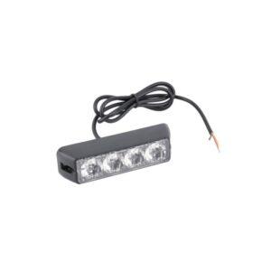 pazari4all.gr-Φώτα LED Strob Αστυνομίας-Ασφαλείας Κόκκινο DC12V4 LED - ΟΕΜ