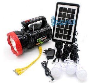 pazari4all.gr-Ηλιακό Σύστημα Ήχου, Φωτισμού & Φόρτισης με Ισχυρό Φακό 1000LM