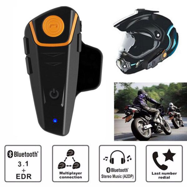pazari4all.gr-Bluetooth – Ενδοεπικοινωνία Ακουστικό για το Κράνος Αδιάβροχο BT-S2 1000m