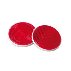 pazari4all.gr-Σετ ανακλαστήρες κόκκινοι στρογγυλοί με διπλή σκάλα