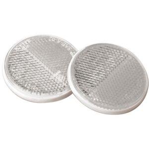 pazari4all.gr-Σετ ανακλαστήρες λευκοί στρογγυλοί με διπλή σκάλα