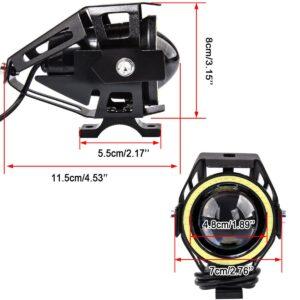 pazari4all.gr-Αδιάβροχος προβολέας μοτοσυκλέτας 2.75 ίντσες Cree LED U7 Angel Eye