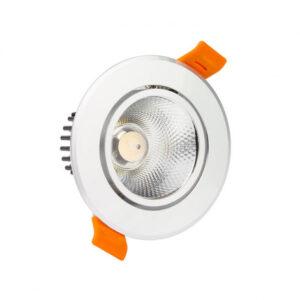 pazari4all.gr-LED COB ΛΕΥΚΟ χωνευτό φωτιστικό οροφής 12W 60° 6000K