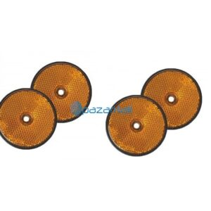 pazari4all.gr-Αντανακλαστικά Στρόγγυλα Πορτοκαλί 60mm Σετ 4 τεμ.