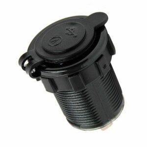 pazari4all.gr-Αδιάβροχος Φορτιστής βολτόμετρο με 2 εξόδους USB 5V Κόκκινο led TC04