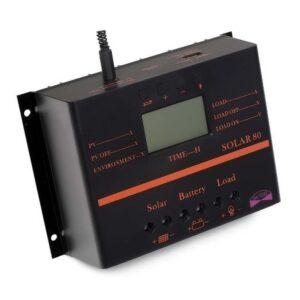 pazari4all.gr-60A Ηλιακός ρυθμιστής φόρτισης ηλιακής μπαταρίας YOBA 12V / 24V + καλώδιο 16,4εκ