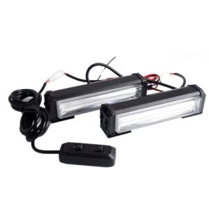 pazari4all.gr-2 X 40W Φάροι προειδοποίησης LED cob strobe Μπλέ και λευκό NK-BS02