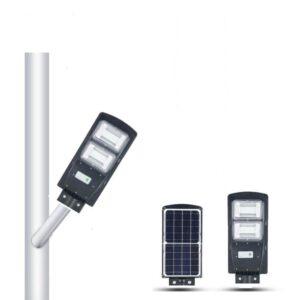 pazari4all.gr-Ηλιακό Φωτιστικό LED Δρόμου, Αδιάβροχο, Αυτόνομο 60W με ενσωματωμένο φωτοβολταϊκό πάνελ.