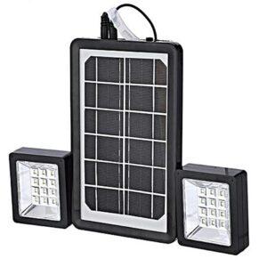 pazari4all.gr-Ηλιακό Σύστημα Φωτισμού 6V 3W, με Φωτοβολταϊκό Πάνελ και 2 προβολείς Led, Solar Power EP-05