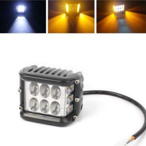 pazari4all.gr-Αδιάβροχος Προβολέας LED Αυτοκινήτου, Φορτηγών Ομίχλης ή Εργασίας Side Shooter 36W 12/24V Με πορτοκαλί – Strobe