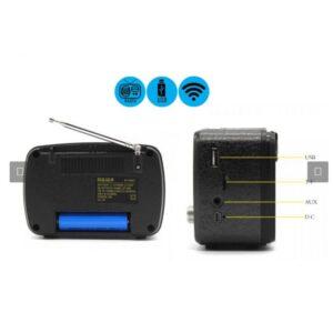 pazari4all.gr-Vintage Ηχείο Bluetooth & Ραδιόφωνο Meier M-166BT σε χρώμα Χρυσό