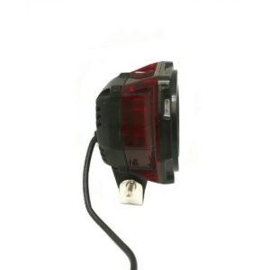 pazari4all.gr-Αδιάβροχος προβολέας μοτοσυκλέτας LED με πολύχρωμη στεφάνη μαύρου χρώματος 1 τεμ. OEM