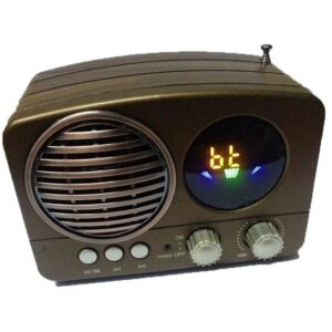 pazari4all.gr-ΡΑΔΙΟΦΩΝΟ M-163BT MINI DIGITAL FM RADIO WITH USB/TF INPUT/ WIRELESS B.T