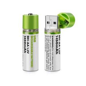 pazari4all.gr-Επαναφορτιζόμενες Μπαταρίες ΑΑ με Βύσμα USB