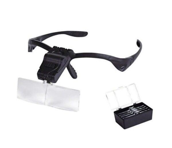 pazari4all.gr-Γυαλιά εργασίας με 5 μεγεθυντικούς φακούς και LED φωτισμό MYSTERY