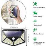 Ηλιακό αδιάβροχο φωτιστικό εξωτερικού χώρου 100 LED,με αισθητήρα κίνησης και γωνία 270 °