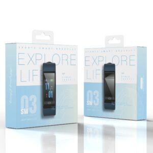 pazari4all.gr-EZRA Smart ρολόι Αθλητικό με καρδιακό ρυθμό sw03