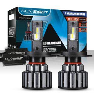 pazari4all.gr-Novsight LED Λάμπες 15000LM/Pair 6000K A397-F06 H4/H7