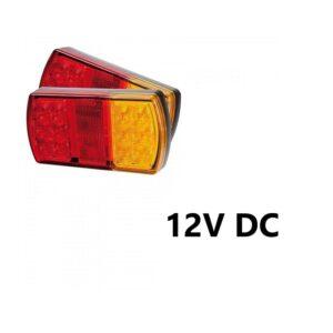 Αδιάβροχο πίσω φανάρι με 12 LED για τρειλερ 12V