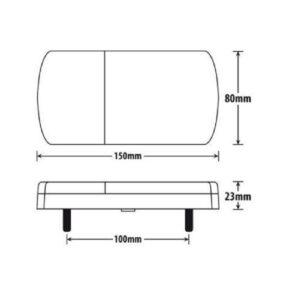 Αδιάβροχο πίσω φανάρι με 12 LED για τρειλερ 12V-pazari4all (1)