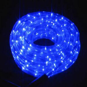 Χριστουγεννιατικο Διακοσμητικο LED σχοινι 20 m ΜΠΛΕ ΑΔΙΑΒΡΟΧΟ IP65