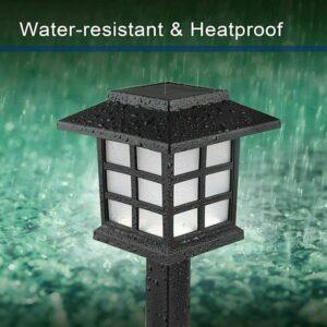 pazari4all.gr-LED Ηλιακά φωτιστικά 4 τεμαχίων για υπαίθριους χώρους