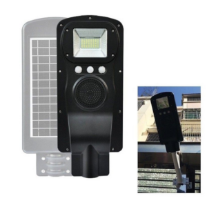 pazari4all.gr-Ηλιακό Φωτιστικό δρόμου 35W επαναφορτιζόμενο με Hi-Fi Music και Bluetooth CL-183